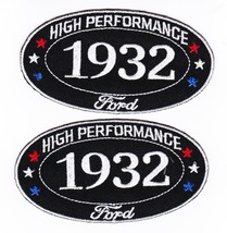 Two 1932 Ford SEW/IRON On Patch Badge Emblem Embroidered Coupe Roadster Car - $11.99