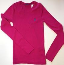 Ralph Lauren Womens Ladies Dark Pink Polo T Shirt 100% Cotton Size Large - $43.79