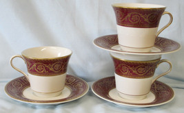 Castleton Flamenco Red Gold Cup & Saucer set of 3 - $34.54
