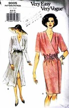 1994 Misses' Vogue MOCK WRAP DRESS Vogue Pattern 9005-v Sizes 6-8-10 - $10.00