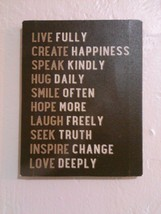 Wall hanging Louise Carey  live create speak hug smile hope laugh Inspir... - $9.99