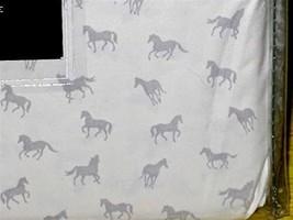 New Ralph Lauren King Pillowcases Pair 2 Grey Horses White 100% Cotton - $69.99