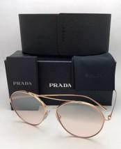 Prada Sunglasses Conceptual Spr 56U SVF-204 Pink Gold w/Brown Fade Silver Mirror - $399.95