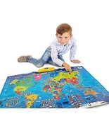Interactive Talking World Map for Kids TG661 - Push, Learn and Discover ... - $65.99