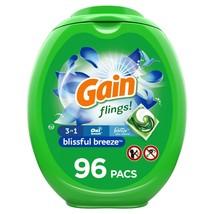 Gain flings! Liquid Laundry Detergent Pacs, Blissful Breeze, 96 Count - $29.63