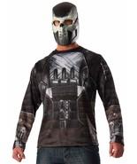 Crossbones Shirt Mask Captain America Civil War Marvel Halloween Adult Costume - $30.51