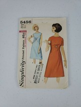 1964 Simplicity Dress Printed Sewing Pattern #5456 Size 14/34 Bust Chic ... - $16.00