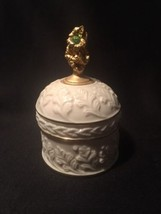 Vintage Lenox China Treasures Collection August Birthstone Trinket Box - $9.50