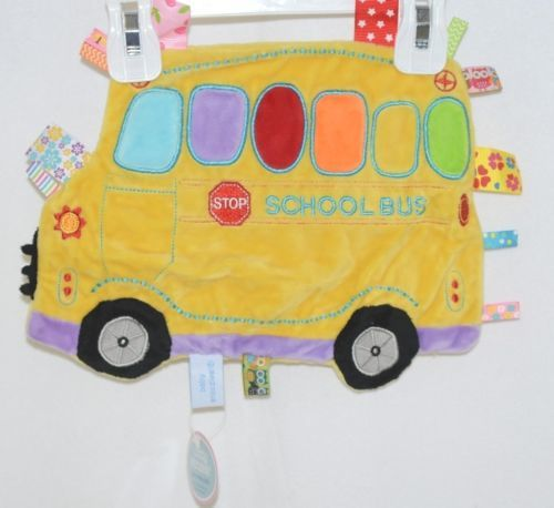 Baby Snoozies BTCSB01 Cozy Crinkle Cloth School Bus  Auditory Tactile Feedback