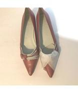 New York Transit Womens sz 6.5 M Kitten Kitty Heel Pink White Heels - $19.39