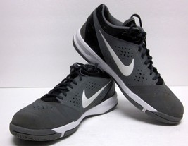 NIKE 2013 ZOOM ATTERO (SZ 11.5) GRAY SYNTHETIC MID PROFILE BASKETBALL SH... - $31.50