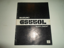 1980 Suzuki GS550L Supplement Shop Repair Workshop Manual FACTORY OEM BOOK 80 x - $89.09