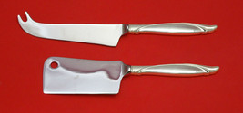 Reigning Beauty By Oneida Sterling Silver Cheese Srvr Serving Set 2P Hhws Custom - $101.75