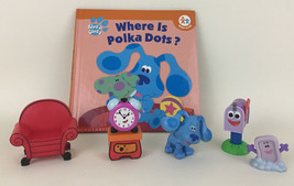 Blue's Clues Where Is Polka Dots? Hardcover Book 6 Figures Lot 2002 Scho... - $35.59
