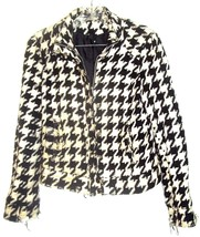 Black & White Houndstooth Print Wool Blend Jacket by H&M Divided Size 8 - $37.99