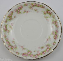 Vintage Homer Laughlin China Hudson Pink Floral Pattern Flat Cup Saucer ... - $5.99
