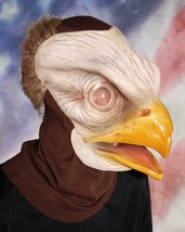 Bald Eagle Mask Realistic American Pride Bird Animal Halloween Costume M... - $99.42 CAD