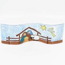 Fused Art Glass Christmas Nativity Star Wavy Décor Sun Catcher Handmade Ecuador
