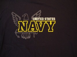 United States Navy USA USN Military Troops Support Navy Blue T Shirt XL - $17.66