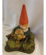 Rien Poortvliet Museum Gift Shop David the Gnome with Bird Figurine - $58.16