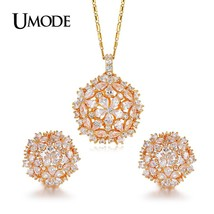 UMODE Brand Cluster Flower Design AAA+ CZ Wedding Jewelry Sets For Women... - $28.93