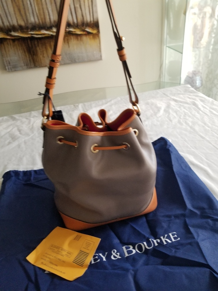 NWT Dooney & Bourke Claremont Large Drawstring Bag