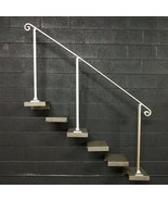 7 Foot Aluminum Stair Handrail | Base Plate Posts | Aluminum Grab Railing - $265.00