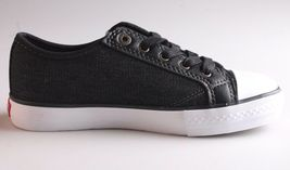NEW Levi's Kids Boys Girls Stan Buck C Black Denim Sneakers Gym Shoes NIB image 5