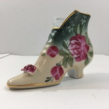 Formalities By Baum Bros Hand-painted Vintage Porcelain Shoe - $12.46