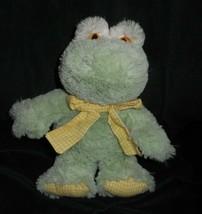 "12"" Animal Adventure 2007 Baby Green Frog Yellow Bow Stuffed Animal Plush Toy - $22.21"