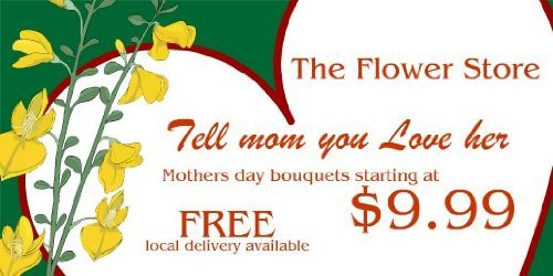 3x6 Vinyl Banner - Mothers Day Flower