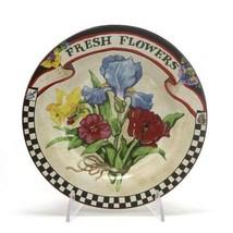 Farmers Market by Sakura, Stoneware Salad Plate, Fresh Flowers - $11.88