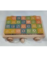 Uncle Goose Set Of 28 Embossed Alphabet,Numbers, Animals,Wooden Blocks W... - $29.65