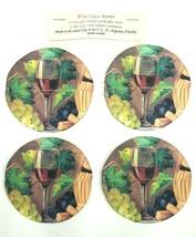 Wine Glass Coasters Fabric Machine Washable Handmade in the USA NEW - $12.19