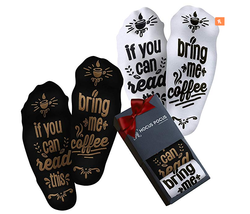 Funny Bring Me Coffee Socks - Novelty Coffee Gifts For Men and Women - $11.98