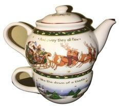 Portmeirion Studio Christmas Story Teapot for One  - $28.00