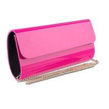 Evening Clutch, Mad Style Unique Elongated Shape Acrylic Clutches, Pink - $17.16 CAD