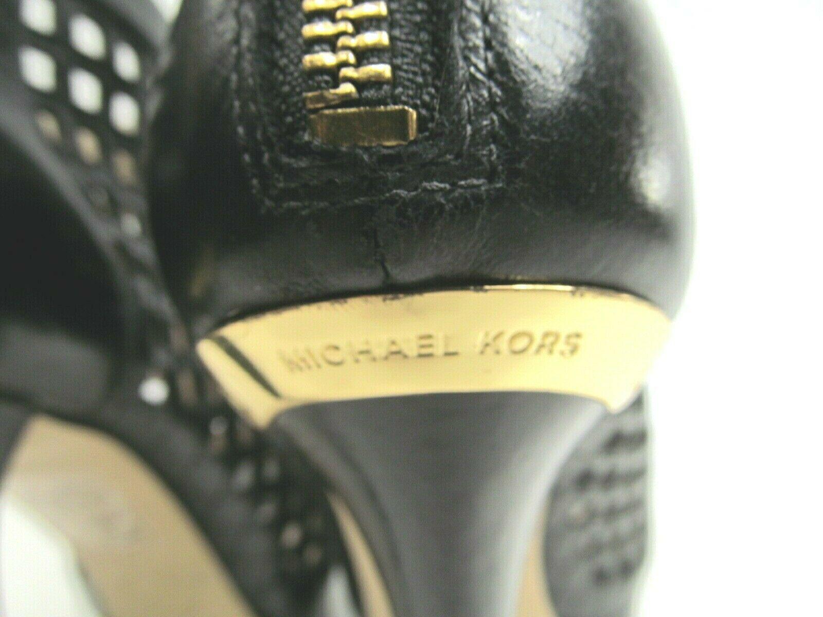 Michael Kors Womens Peep Toe Stilettos Platforms With Cutouts Size US 6 M image 3