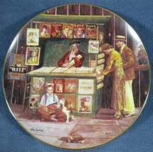 The Corner Newstand Collector Plate 4th Bygone Days Lee Dubin Bradford E... - $14.95
