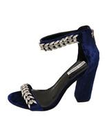 Cape Robbin Ekko 9 Blue  Women's Rhinestone Embellished Open Toe Heel - $43.95