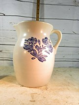 Large Pfaltzgraff Yorktown Pitcher Great Condition Blue Floral Pattern 64oz - $18.69
