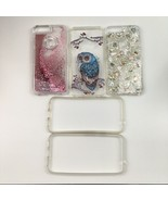 Lot of 3 Pixel XL Cell Phone Hard Plastic Shell Fashion Cases Owl Glitte... - $23.75