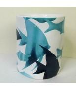 Mug with Swimming Fish Blues 4.5 Inch - $15.84