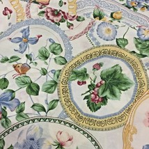 "Vintage Estate ""50s Look"" Round FLORAL Tablecloth 67 in Diameter - $13.95"