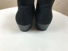 American Eagle Outfitters Black Slip On Ankle Boots Low Heel Shoes 6.5 Wide - $18.65