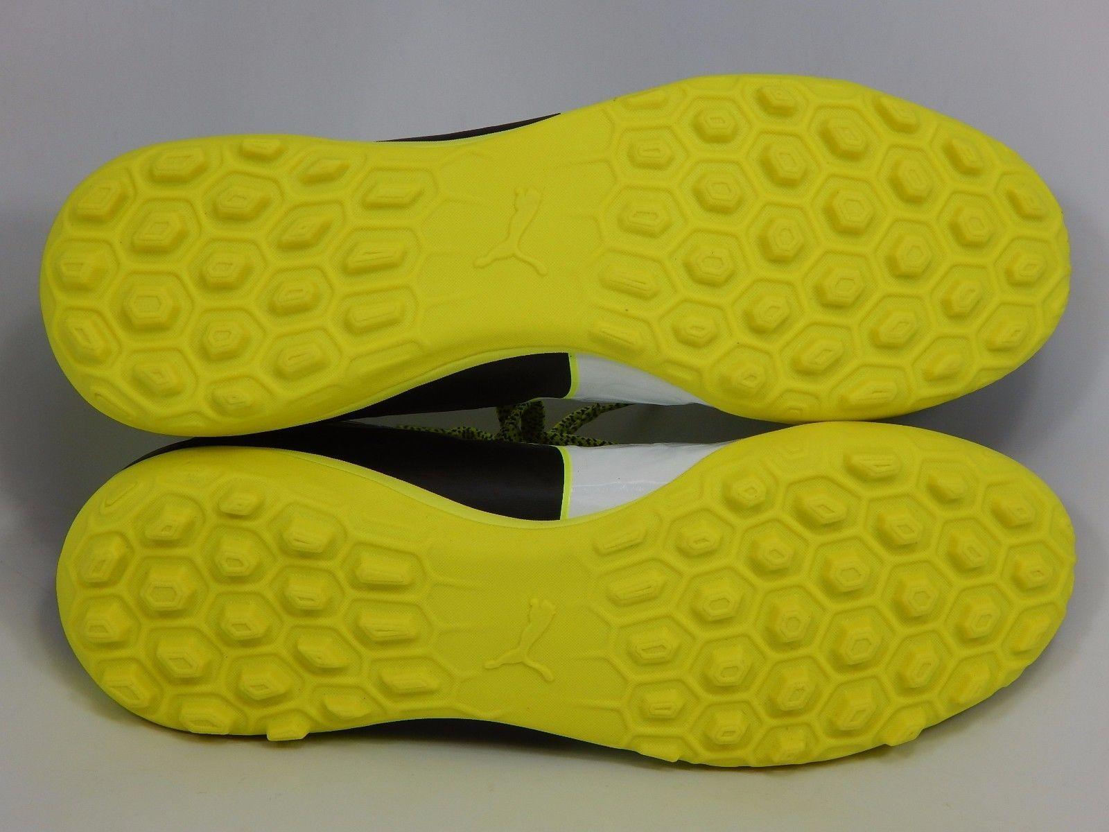 Puma evoTouch 3 TT Men's Soccer Cleats Size US 9 M (D) EU 42 Black Yellow