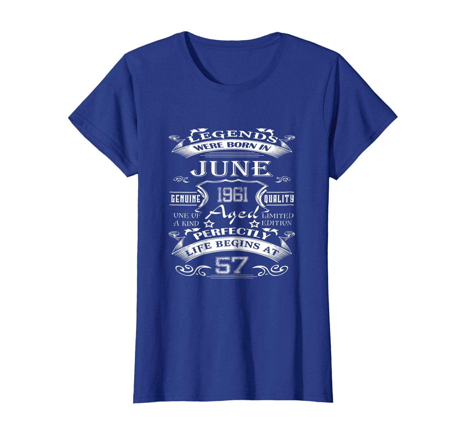 Brother Shirts - Legends Born June 1961 Shirt 57th Birthday Gift 57 Year Old Wow