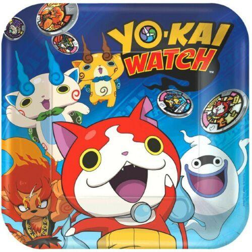 "Yo-Kai Watch 8 9"" Dinner Lunch Plates Birthday Party Yokai"