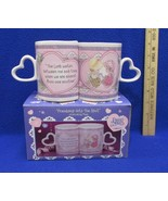 Interlocking Coffee Cup Mugs Precious Moments Friendship Hits The Spot P... - $14.84