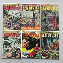Lot of 6 Sea Devils (1961) #11 19 21 25 26 34 FN Fine - $116.82